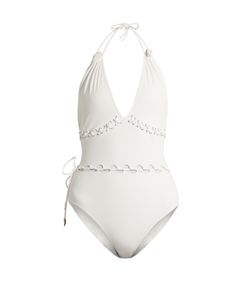 ON THE ISLAND | Lace-Up V-Neck Swimsuit