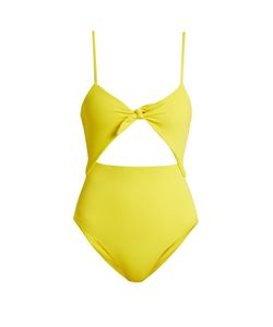 Mara Hoffman   Tie-Front Cut-Out Swimsuit