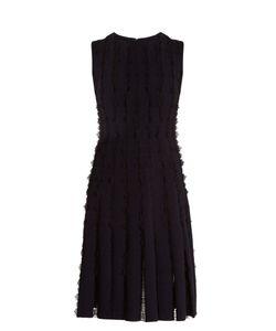 Huishan Zhang | Maya Lace-Insert Wool-Blend Jersey Dress
