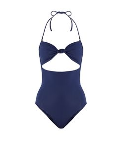 Mara Hoffman | Knot-Front Cut-Out Swimsuit