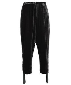 Toga | High-Rise Carrot-Leg Velvet Trousers