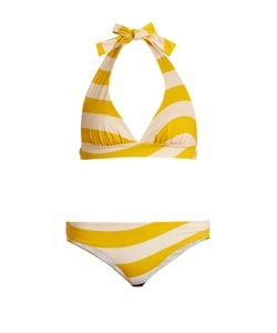 Fendi | Striped Halterneck Bikini