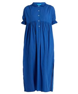M.i.h Jeans   Frieda Puff-Sleeved Smocked Cotton Dress
