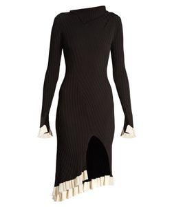 ESTEBAN CORTÁZAR | Funnel-Neck Ribbed-Knit Dress