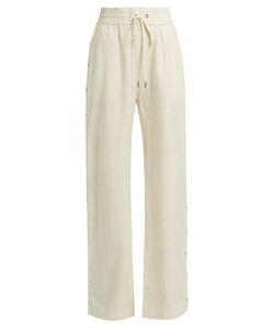 Zimmermann | Cavalier Buttoned-Side Wide-Leg Silk Trousers