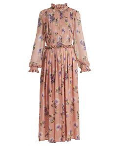MSGM | Silk-Chiffon Pleated Dress
