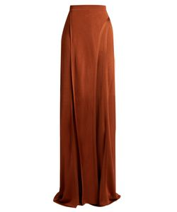 Balmain | Wide-Leg Side-Slit Knit Trousers