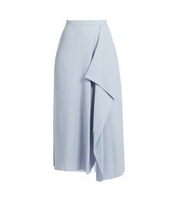 Roland Mouret | Upton Chevron-Embroidered Crinkled-Crepe Skirt