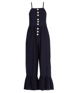 See by Chloé | Square-Neck Seersucker Jumpsuit