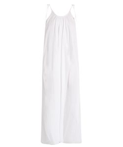 LOUP CHARMANT | Tie-Shoulder Cotton Maxi Dress