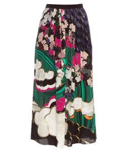 Mary Katrantzou | Santhus Jewel Cloud-Print Silk Skirt
