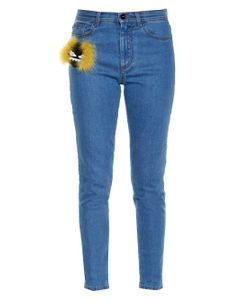Fendi | Bag Bugs Embellished Slim-Leg Jeans