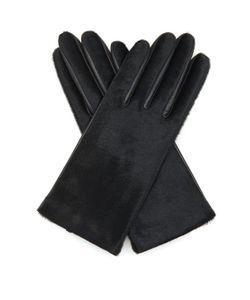 Agnelle | Chloe Calf-Hair And Leather Gloves