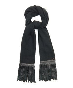 Melt | Govinda Leather-Fringed Wool Scarf