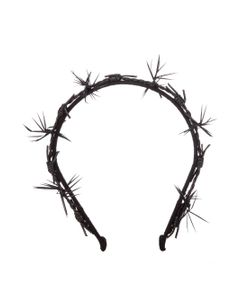 Gigi Burris Millinery | Barbed Feather And Leather-Trim Headband