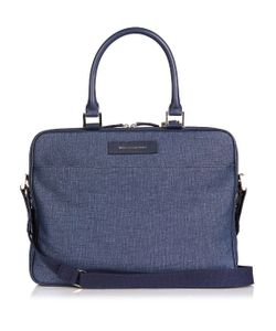 Want Les Essentiels De La Vie | Haneda Canvas And Leather Laptop Bag