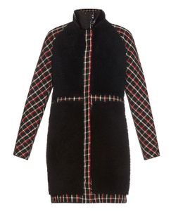 Moncler Gamme Rouge | Shearling And Checked-Wool Coat