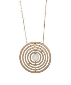 Noor Fares | Diamond Moonstone Gold Armillae Necklace