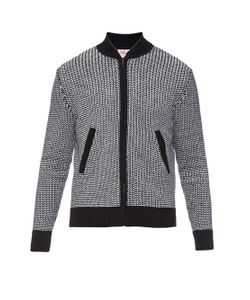Orley   Grid-Stitch Zip-Front Cardigan
