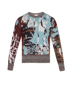Cerruti 1881 Paris | Jacquard-Wool Crew-Neck Sweater