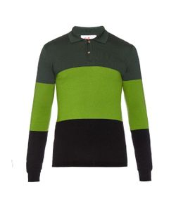 Orley | Leo Colour-Block Knit Polo Shirt