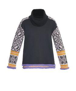 Michaela Buerger | Wool-Knit Panelled Jersey Sweater