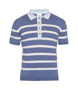 Orley | Striped Wool-Knit Polo Shirt