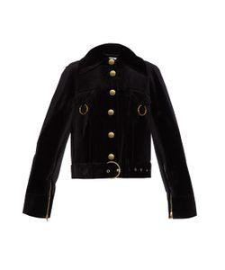 Thomas Tait   Oversized Velvet Biker Jacket