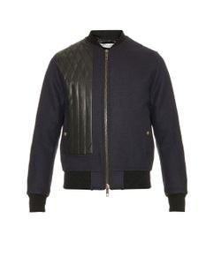 Cerruti 1881 Paris | Quilted-Leather And Wool Bomber Jacket