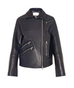 Thomas Tait   Oversized Leather Biker Jacket