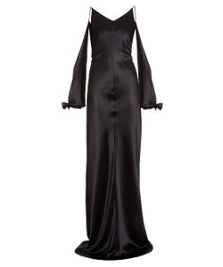 Juan Carlos Obando   Amalfi Bias-Cut Silk-Satin Gown