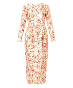 Caterina Gatta | Roses-Print Crepe Dress