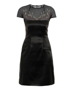 Marios Schwab | Embroidered Stretch-Satin Dress