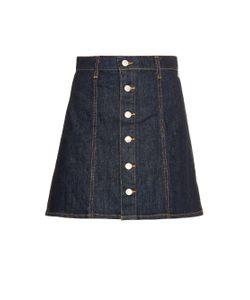 Alexa Chung for AG | The Kety Denim A-Line Mini Skirt