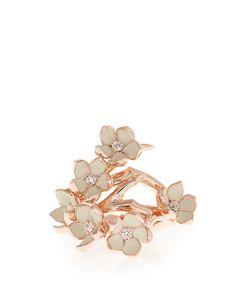 Shaun Leane | Diamond Enamel Rose Gold-Plated Ring
