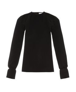 Thomas Tait | Cut-Out Pleated-Cuff Crepe Top