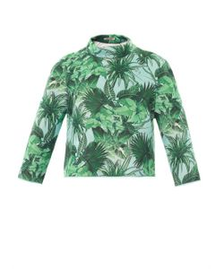Emma Cook | Tropical-Print Neoprene Sweatshirt
