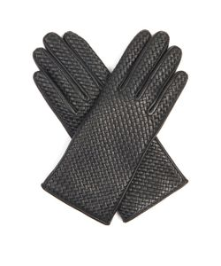 Agnelle | Chloe Woven-Leather Gloves
