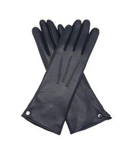 Agnelle   Rabbit-Fur Lined Leather Gloves