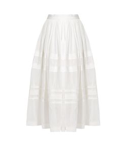 Maison Rabih Kayrouz | Grosgrain-Trim Cotton And Silk-Blend Voile Skirt