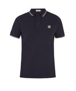 Stone Island | Striped-Edge Cotton-Blend Polo Shirt