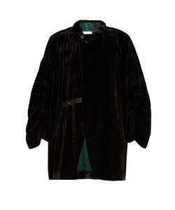 Toga | Contrast-Trim Velvet Jacket