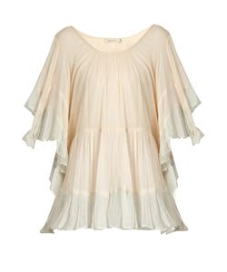 Mes Demoiselles | Radiance Ruffle-Trimmed Cotton Blouse