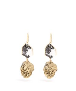 Christopher Kane | Two-Drop Natural Stone Earrings