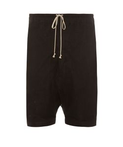 Rick Owens | Mesh-Overlay Dropped-Crotch Shorts