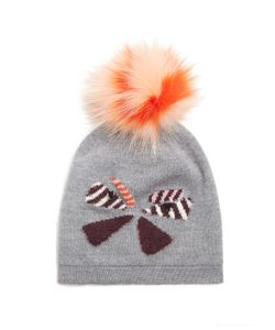 Fendi | Butterflyeye Fur-Pompom Wool Beanie Hat