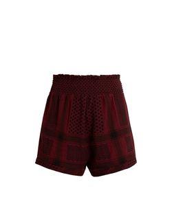 Cecilie Copenhagen   Scarf-Jacquard Cotton Shorts