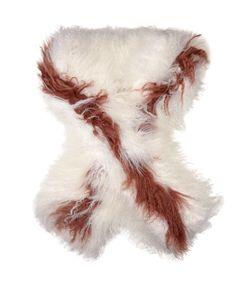 Fendi | Bi-Colour Shearling Scarf