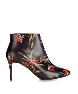 Balenciaga | George V Coquelicot-Print Leather Ankle Boots