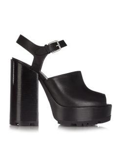 Jil Sander | Open-Toe Leather Platform Sandals